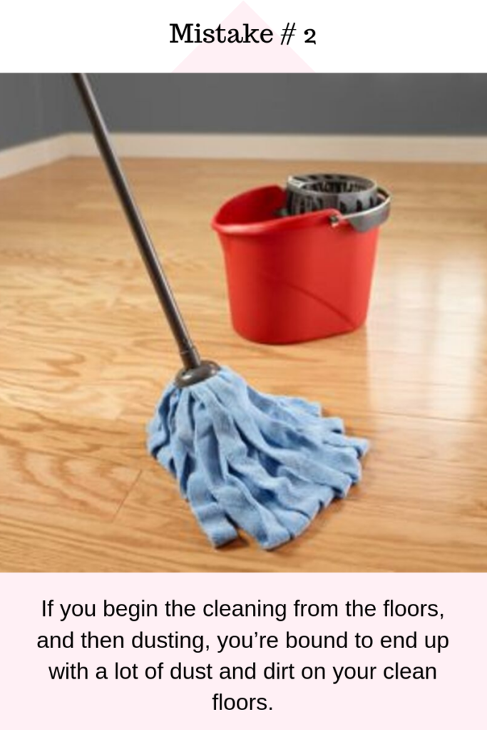 Home Cleaning Mistake 2