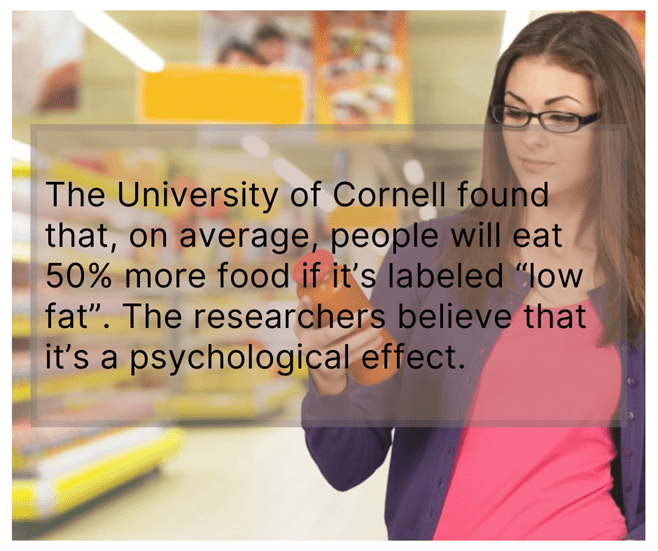 """Labeled """"Low Fat"""" is a Lie"""
