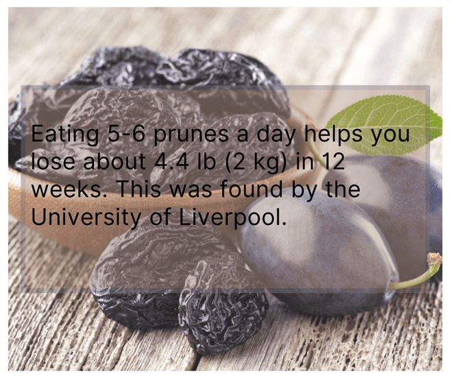 Add Prunes in Your Diet to lose weight
